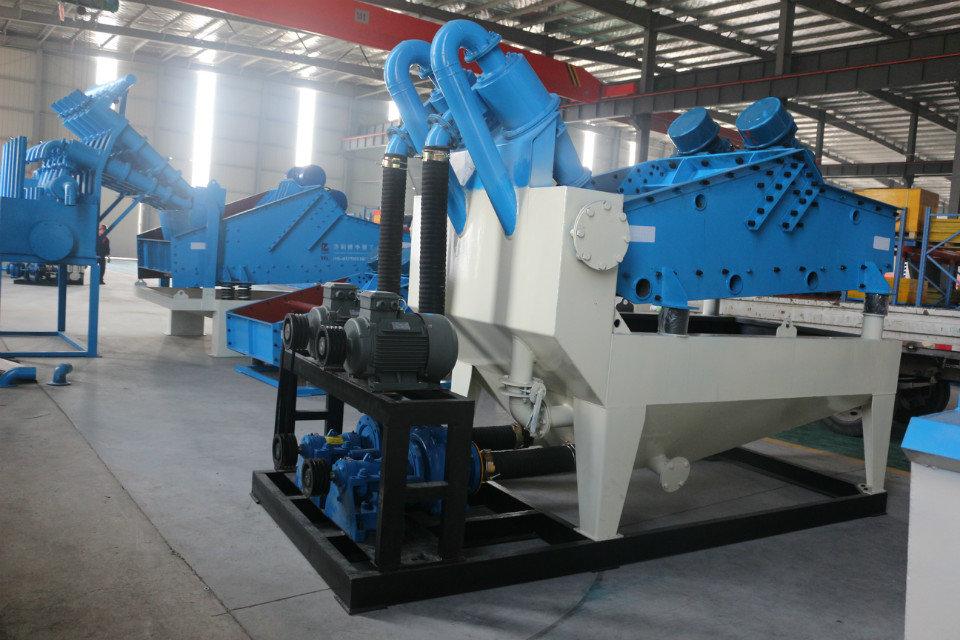 建筑砂骨料之细沙回收机设备生产工艺介绍