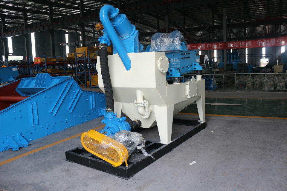 细沙回收机设备现场工艺设计的合理,可节约场地面积