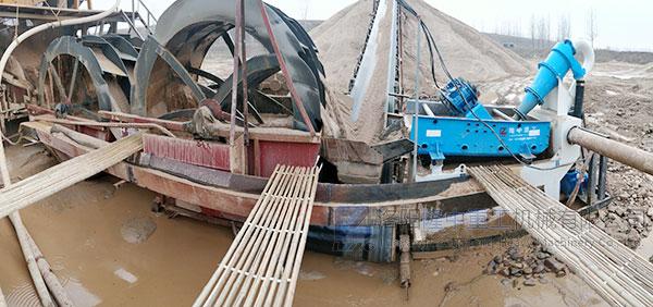 平顶山沙场洗砂环节配置LZ350细砂回收机案例现场