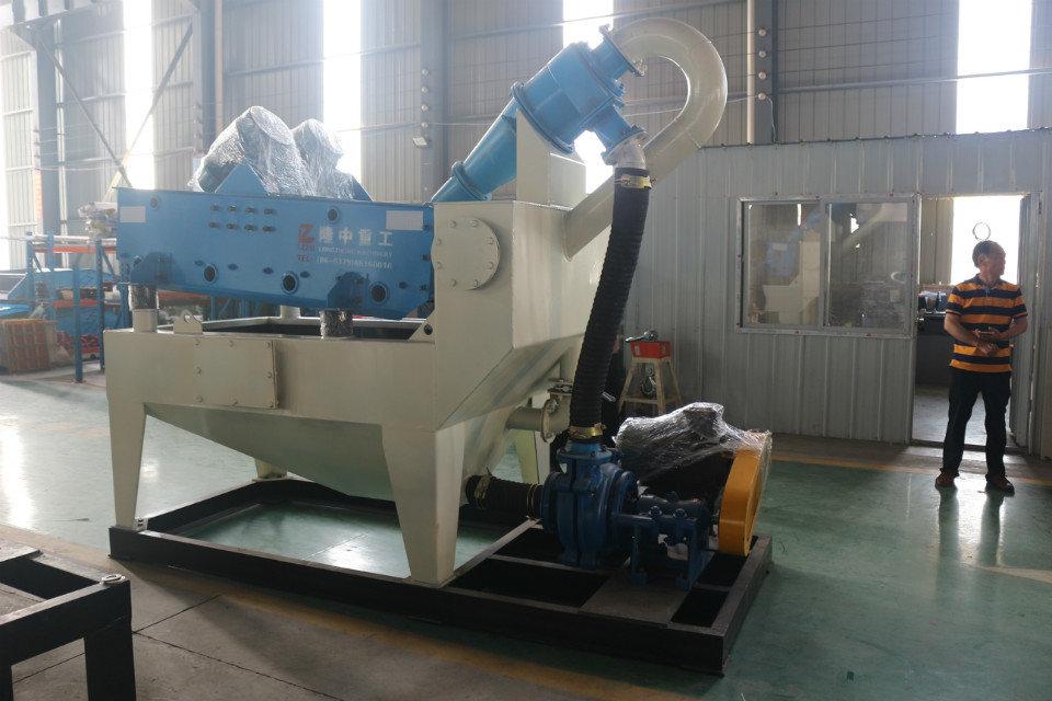 细砂回收机在石灰石生产线应用案例,隆中重工厂家带大家详细了解