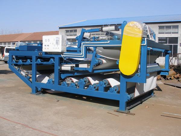 污泥带式压滤机的脱水流程及使用原则