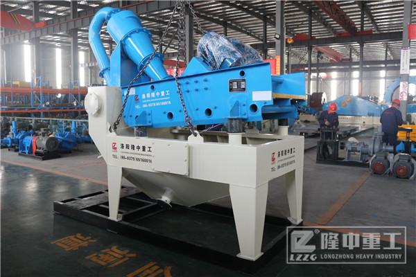 处理基石选用第七代细沙回收机,时产量达200吨