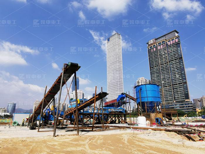 洗砂生产线搭配细沙回收机作业现场