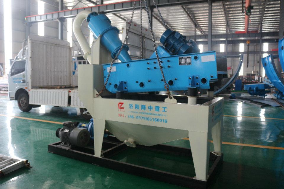新一代细沙回收机可以实现砂石生产线生产