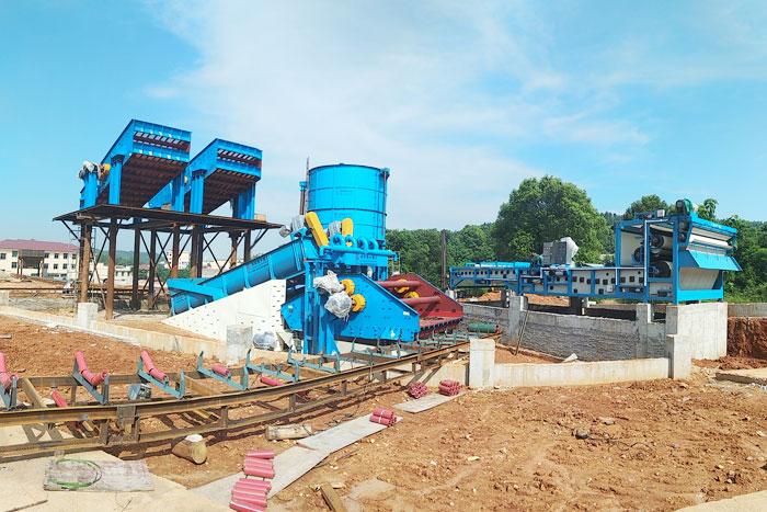 时产100吨河卵石细沙回收机价格多少?专业厂家推荐