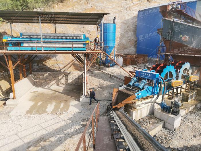 石粉洗沙机选型?整套石粉洗砂生产线如何配置